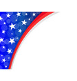 abstract american flag frame corner vector image vector image