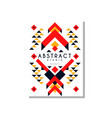 abstrat ethnic card colorful ethno tribal vector image vector image