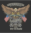 american veteran blood and tears vect vector image vector image