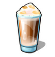 an iced coffee with caramel and whipped cream vector image