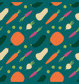 autumn fall seasonal vegetables seamless pattern vector image
