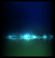 blue-green wave abstract equalizer vector image vector image