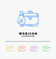 briefcase business case open portfolio 5 color vector image
