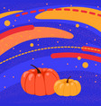 bright autumn background with pumpkins vector image vector image