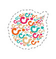 bubble speack question mark image vector image
