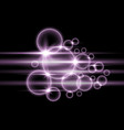 bubbles with light purple color vector image vector image