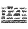 buses vector image
