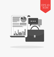 Business adviser concept icon Flat design gray vector image vector image