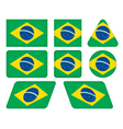 buttons with flag of Brazil vector image vector image