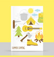 camping poster vector image vector image