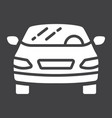 car glyph icon transport and automobile sedan vector image vector image