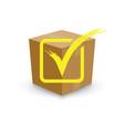 cardboard box tick box vector image