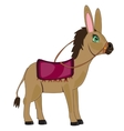 Cartoon animal burro vector image
