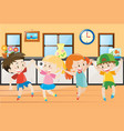 children dancing in the house vector image vector image