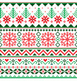 christmas fair isle style traditional pattern vector image vector image