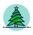 christmas tree clipart icon vector image vector image