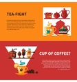 Coffe and Tea 2 Banners Design vector image vector image