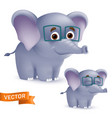 cute standing and smiling cartoon baelephant vector image