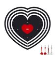 darts love vector image
