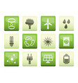ecology energy and nature icons vector image