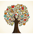 Education concept tree with books vector image vector image