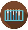 flat design modern laboratory samples icon vector image