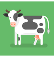 flat style of cow Isolated on green background vector image vector image