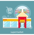 General store shopping mall and fashion store vector image vector image