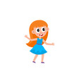 girl dancing at party vector image vector image