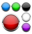 glass buttons set shiny round colored 3d web vector image vector image