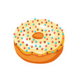 glaze donut with sprinkles vector image vector image