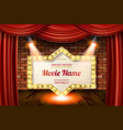 golden frame in cinematic style vector image vector image