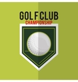 golfing related icons image vector image vector image