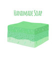 handmade aroma soap natural hygiene product vector image vector image