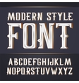 handy crafted modern label font vector image