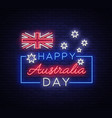 happy australia day on january 26 festive vector image