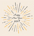 happy new year 2017 vintage style beautiful gree vector image vector image