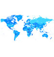 highly detailed world map vector image vector image