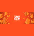 human rights day web banner for social equality vector image vector image