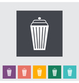 Icon basket vector image