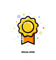 icon elegant rosette for special offer concept vector image