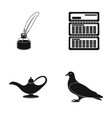 inkwell calendar and other web icon in black vector image vector image