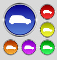 Jeep icon sign Round symbol on bright colourful vector image vector image