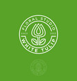 logo white tulip green vector image vector image