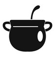 magic cauldron icon simple style vector image