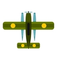 Military biplane icon flat style vector image vector image