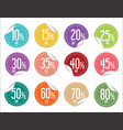 paper sale stickers collection vector image vector image