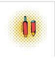 Pen gun comics icon vector image