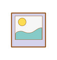 picture of landscape with border design vector image