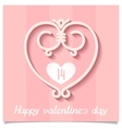 Pink ornaments heart of lines a symbol of love vector image